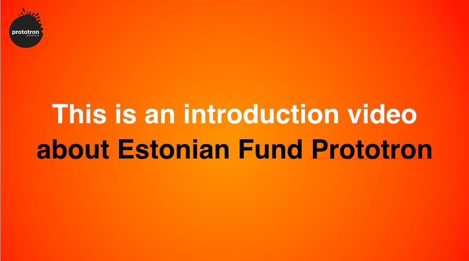 Nüüdsest on Prototron First