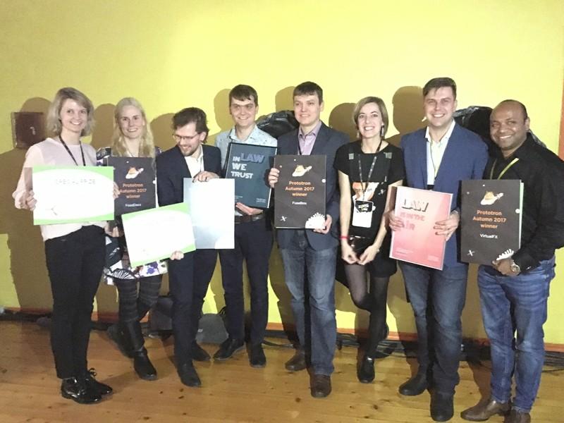 Prototron winners FuseBox VirtualFX FoodDocs Eziil